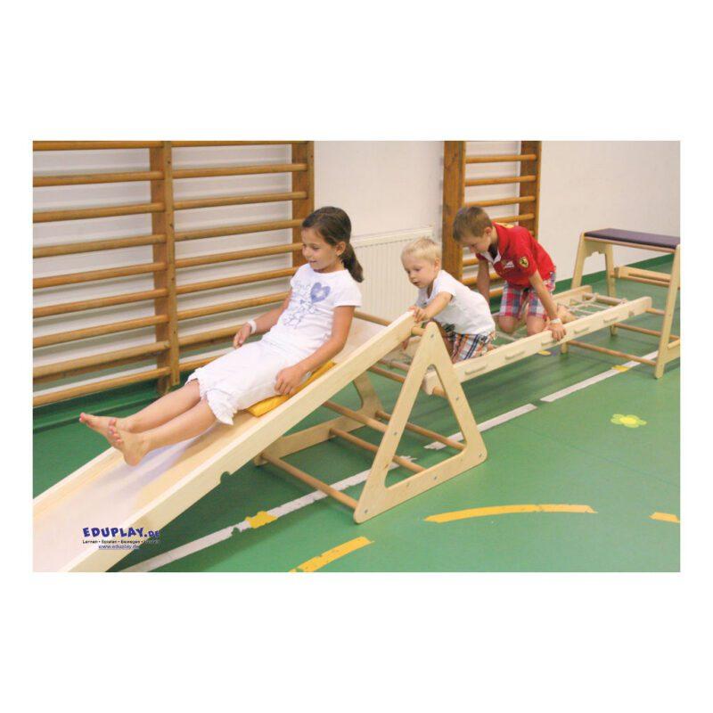 Klimrek Hout Touwladder Schuine Ladder Horizontaal QIDDIE.com edup-170350