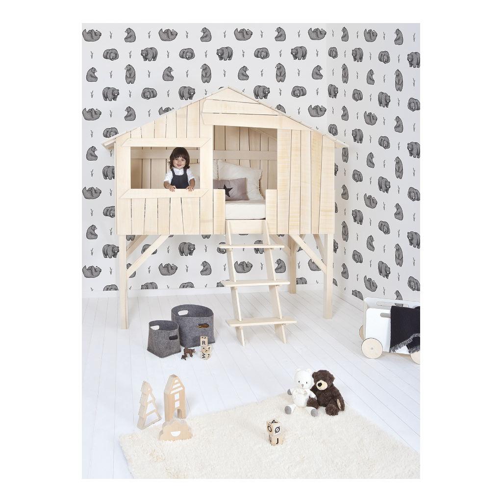 Behang Bears Zwart WitRomanian Hills Lilipinso Gender Neutraal Interieur Kinderkamers Babykamers Geboorte QIDDIE.com lili-H0602