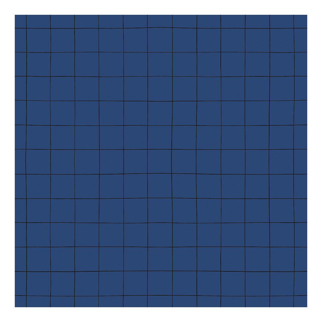 Behang Grid Navy Blauw Minima Lilipinso Vliesbehang Babykamer Kinderkamer Jongens Donker Blue Zwarte Lijnen QIDDIE.com Lili-H0617