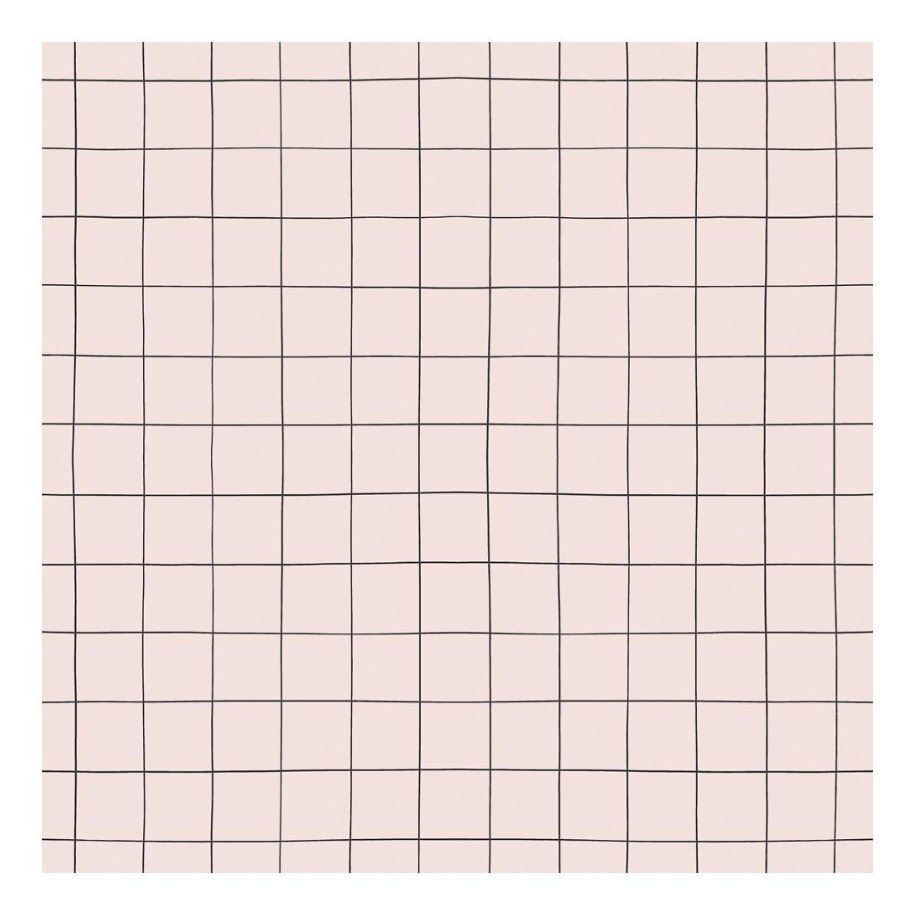 Behang Grid Parel Roze Minima Lilipinso Vliesbehang Doorlopend Patroon QIDDIE.com Lili-H0619