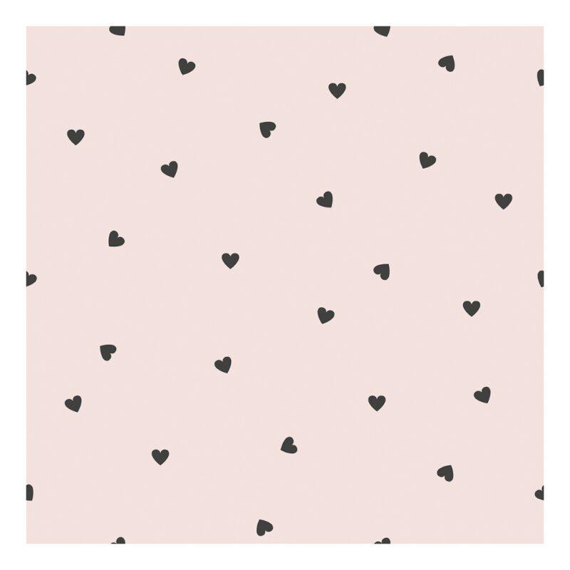 Behang Hearts Parel Roze Minima Lilipinso Zacht Roze Neutraal Rustig Meisje Babykamer Kinderkamer QIDDIE.com lili-H0624
