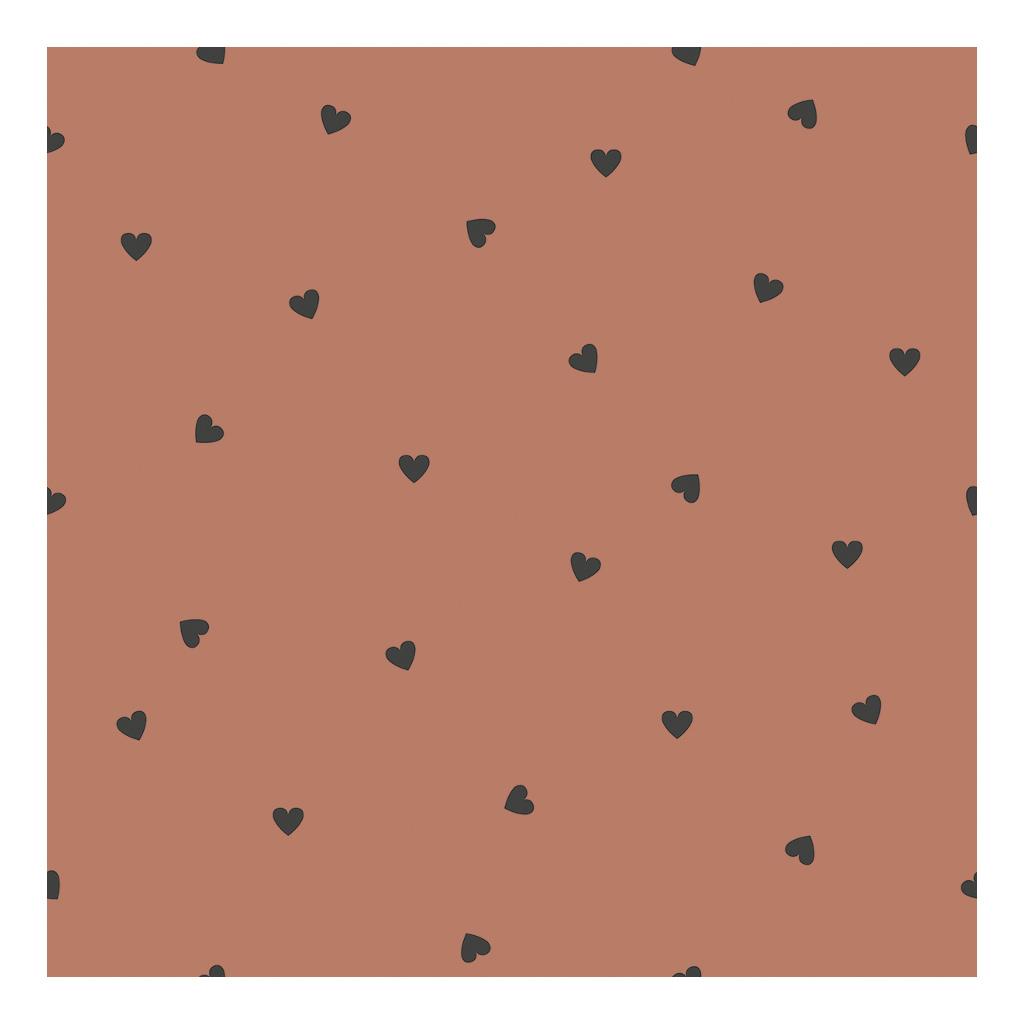 Behang Hearts Terracotta Minima Lilipinso Babykamer Kinderkamer Warme Kleur Neutraal QIDDIE.com lili-H0625