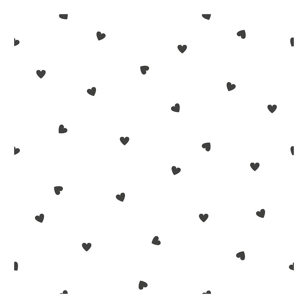 Behang Hearts Wit Zwart Minima Lilipinso Gender Neutraal Jongen Meisje Babykamer Kinderkamer Hal Huiskamer Wachtruimte QIDDIE.com lili-H0621
