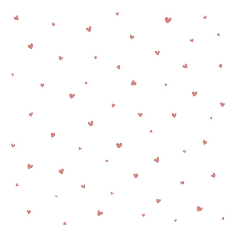 Behang Lovely Hearts Roze Coquette Lilipinso Powder Pink Hartjes Behang Babykamer Kinderkamer QIDDIE.com lili-H0600