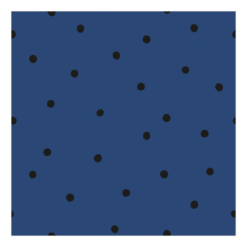 Behang Stippen Navy Blauw Minima Lilipinso Vliesbehang Rustig Patroon Neutraal Donker Speels Dots QIDDIE.com lili-H0611