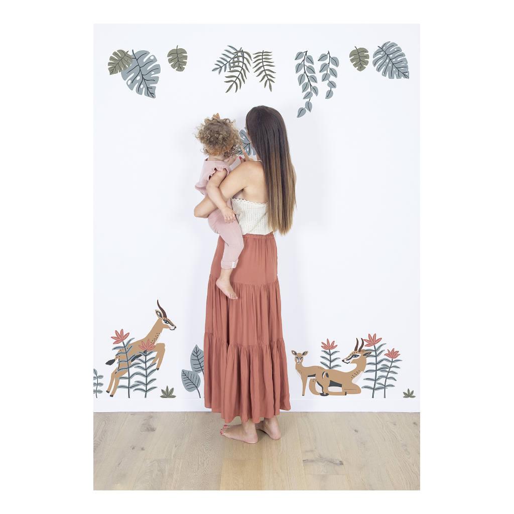 Bladeren Muursticker Xl Tanzania Lilipinso Decoratie Kinderkamer Babykamer Speelkamer Natuur Tak Blad Lianen Savanne Safari QIDDIE.com lili-S1401
