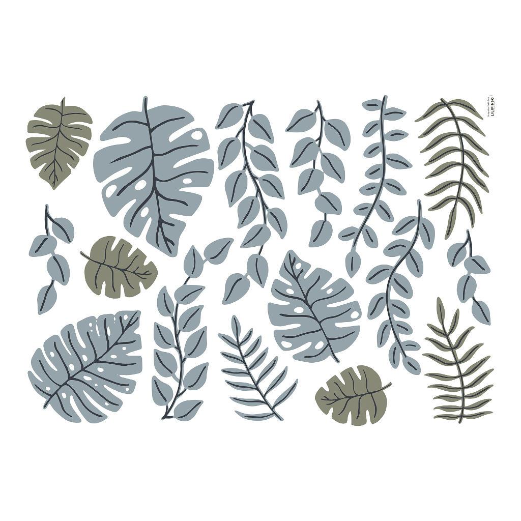 Bladeren Muursticker Xl Tanzania Lilipinso Leaves Blad Lianen Jungle Safari Savanne QIDDIE.com lili-S1401