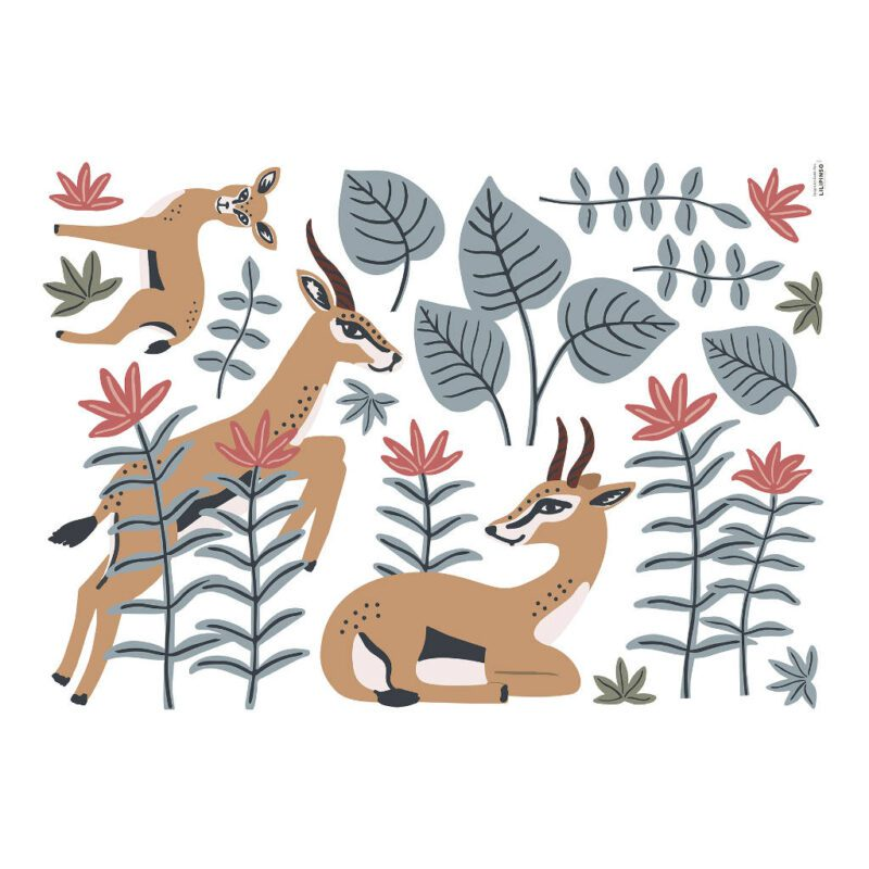 Gazellen Muursticker Xl Tanzania Lilipinso Antilopen Kinderkamer Babykamer QIDDIE.com lili-S1398