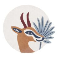 Gazellen Vloerkleed Tanzania Lilipinso 100 cm Hoogpollig Kinderkamer Babykamer Antilopen Gazelles QIDDIE.com lili-H0632