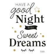 Good Night Muursticker A3 Minima Lilipinso Sweet Dreams Little Babykamer Kinderkamer QIDDIE.com lili-S1421
