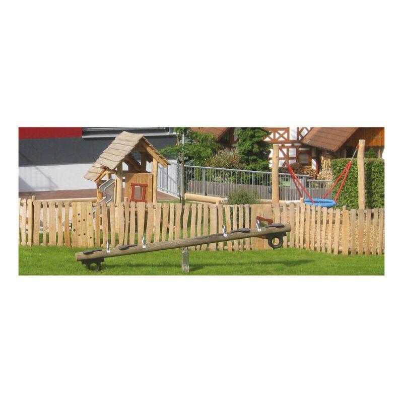 Grenen Houten Wipwap 4 Zitter Boomstam Hout 4 Meter Wip Wap Speeltuin Speelplaats Duurzaam Compleet Niet Graven QIDDIE.com edup-BT-WRT-1164-K