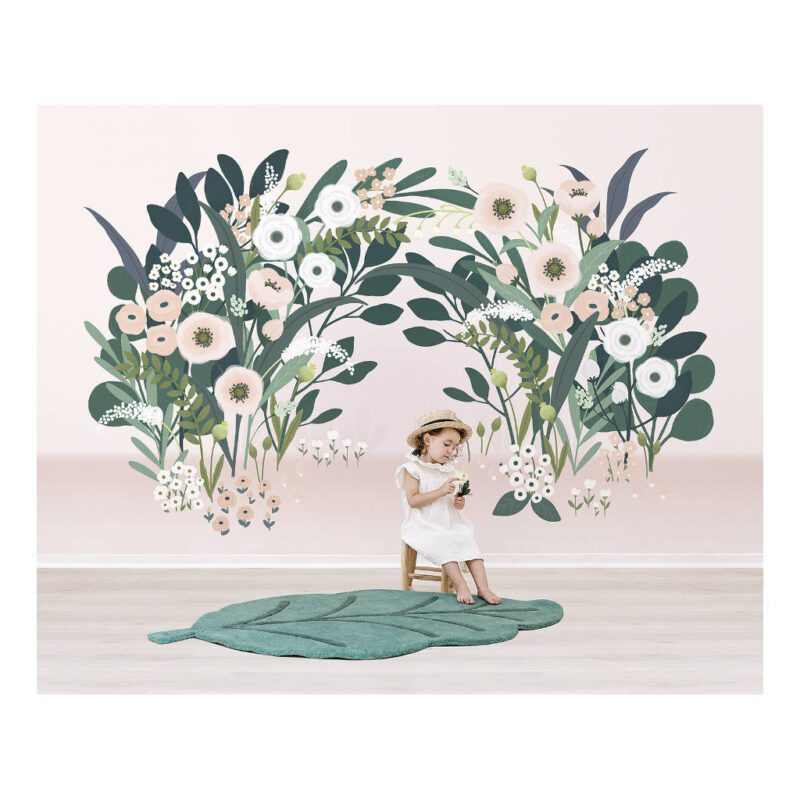 Grote Bloesemboog Licht Behang Wonderland Lilipinso Kinderkamer Huiskamer Style Vliesbehang QIDDIE.com lili-H0626
