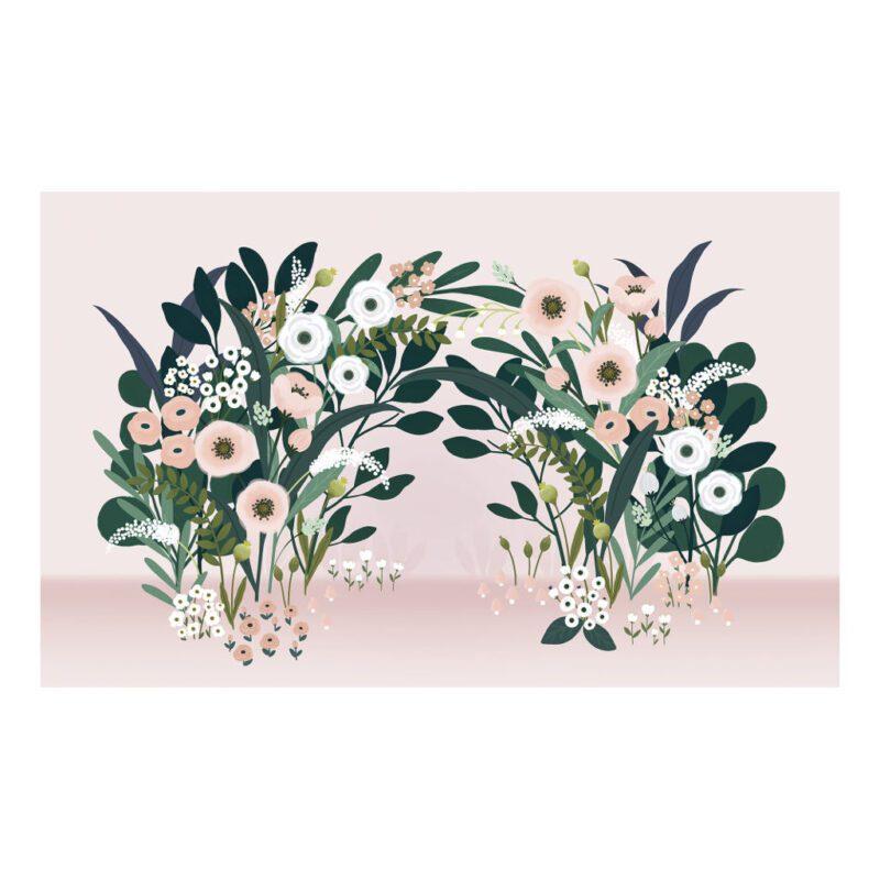Grote Bloesemboog Licht Behang Wonderland Lilipinso Volledig Patroon Bloemen Boog Meisje Babykamer QIDDIE.com lili-H0626