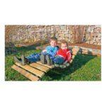 Houten Kinder Ligstoel Lounge Chair Peuter Kleuter Douglas Spar Hout Duurzaam Weerbestendig Degeljik Veilig QIDDIE.com edup-BT-WL-11070-KD