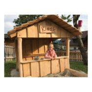 Houten Kiosk Speelhuisje Winkel Speel Tuin Huisje Buiten Binnen QIDDIE.com Edup-BT-SH09-KIO-R