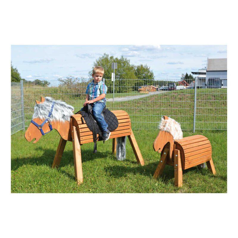 Houten Tuin Paard 50 Cm Outdoor Horse Buiten Paardje Pony Zitten Spelen Galopperen QIDDIE.com edup-160248