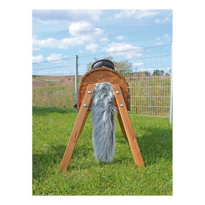 Houten Tuin Paard 80 Cm Staart En Manen Massief Paardje Behandeld Weerbestendig Duurzaam Speeltuin Buiten Manege QIDDIE.com edup-160249