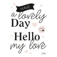 Lovely Day Muursticker A3 Minima Lilipinso Liefde Kinderkamer Babykamer QIDDIE.com lili-S1420