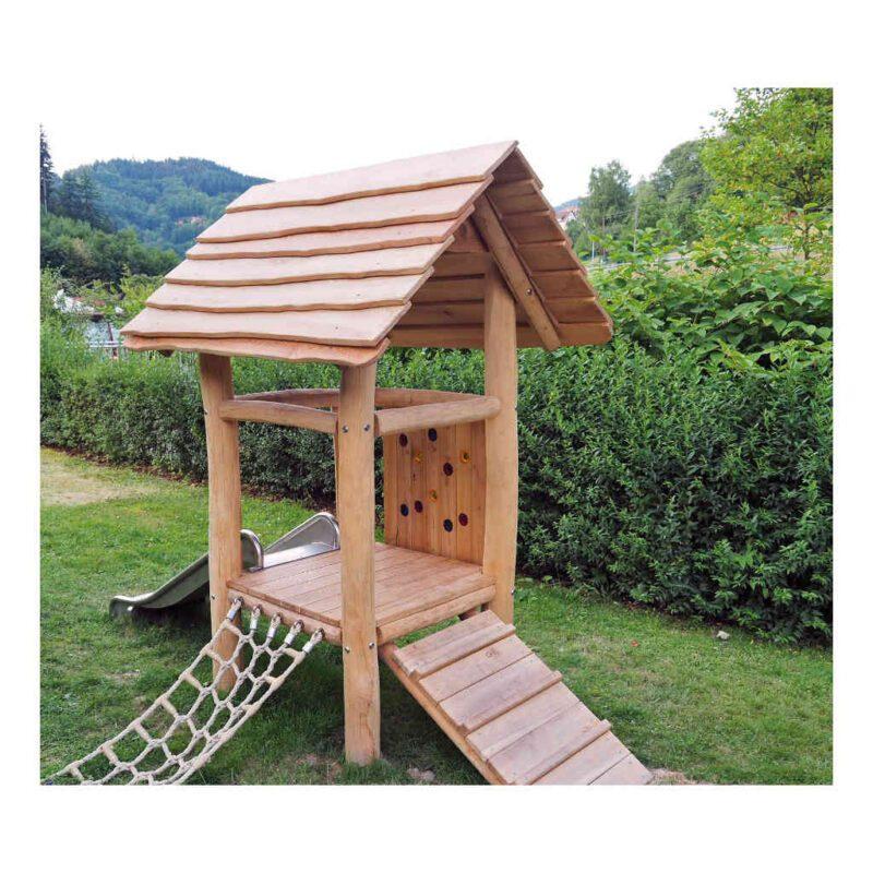Robinia Houten Speelhuis Met Glijbaan Peuter Kleuter Speel huisje School Kinderopvang Tuin Speelplaats QIDDIE.com edup-BT-ZW-ET-Kombi-1
