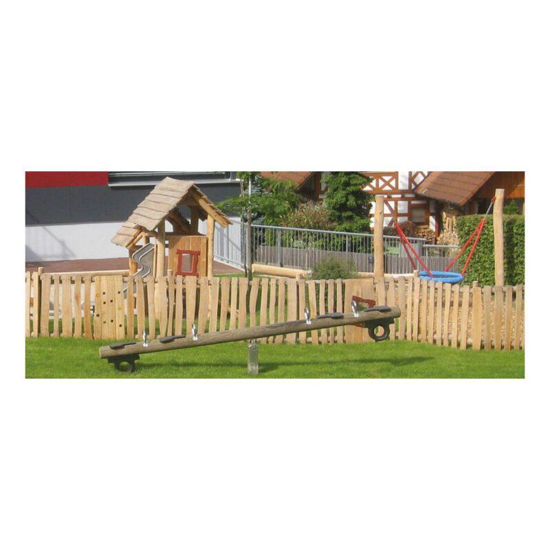 Robinia Houten Wipwap 2 Zitter Wip Wap 4 Meter 2 Zitplaatsen Speeltuin Speelplaats Duurzaam Compleet Niet Graven QIDDIE.com edup-BT-WRT-1162-R