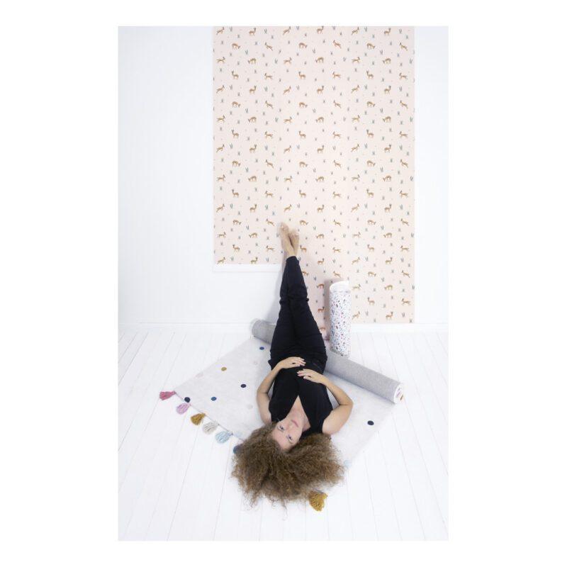 Stippen Multicolour Vloerkleed Minima Lilipinso Kinderkamer Speelkleed 170 cm Hoogpolig QIDDIE.com lili-H0628