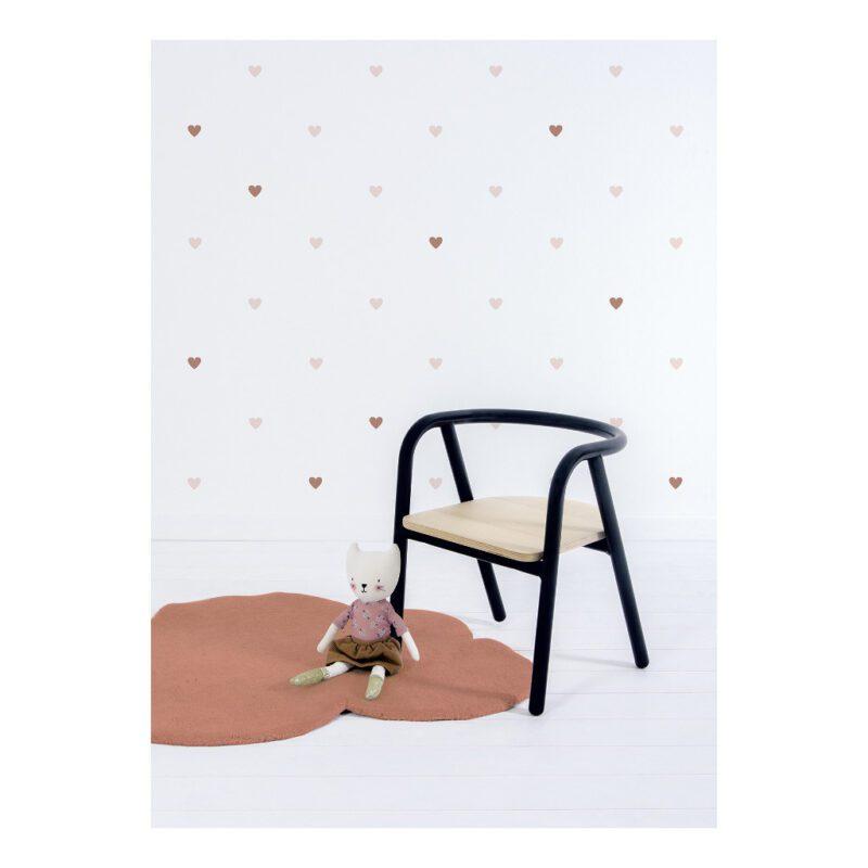 Wolk Terracotta Vloerkleed Minima Lilipinso Kinderkamer Babykamer Collectie QIDDIE.com lili-H0631
