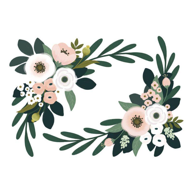 Bloemen En Blaadjes Muursticker Xl Wonderland Lilipinso Bloem Hoeken Muur Decoratie QIDDIE.com lili-S1325