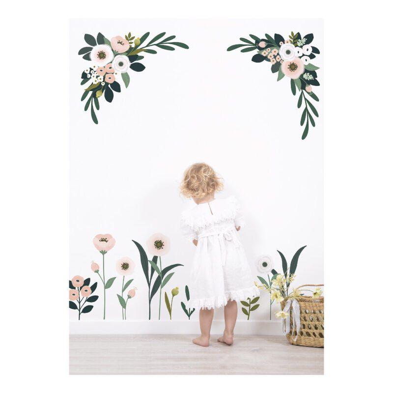 Bloemen En Blaadjes Muursticker Xl Wonderland Lilipinso Grote Muursticker Bloem Tak Hoek Muur Decoratie Kinder Baby Peuter Kleuter Huis Wacht Kamer QIDDIE.com lili-S1325