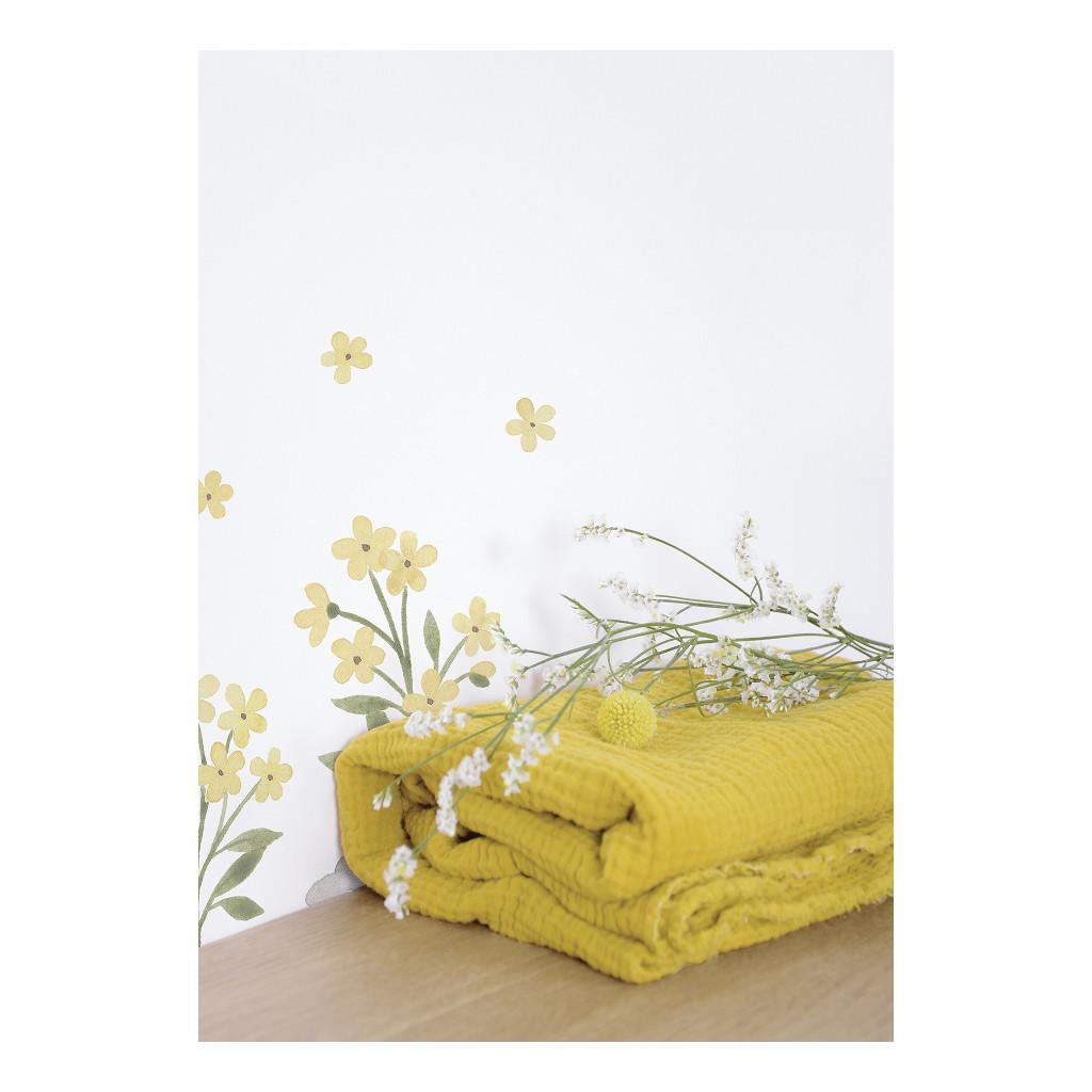 Bloemen Muursticker A3 Lucky Ducky Lilipinso Flowers Water Bloem Lente Bloesem Steen Tak Blad Jongen Meisje QIDDIE.com lili-S1393