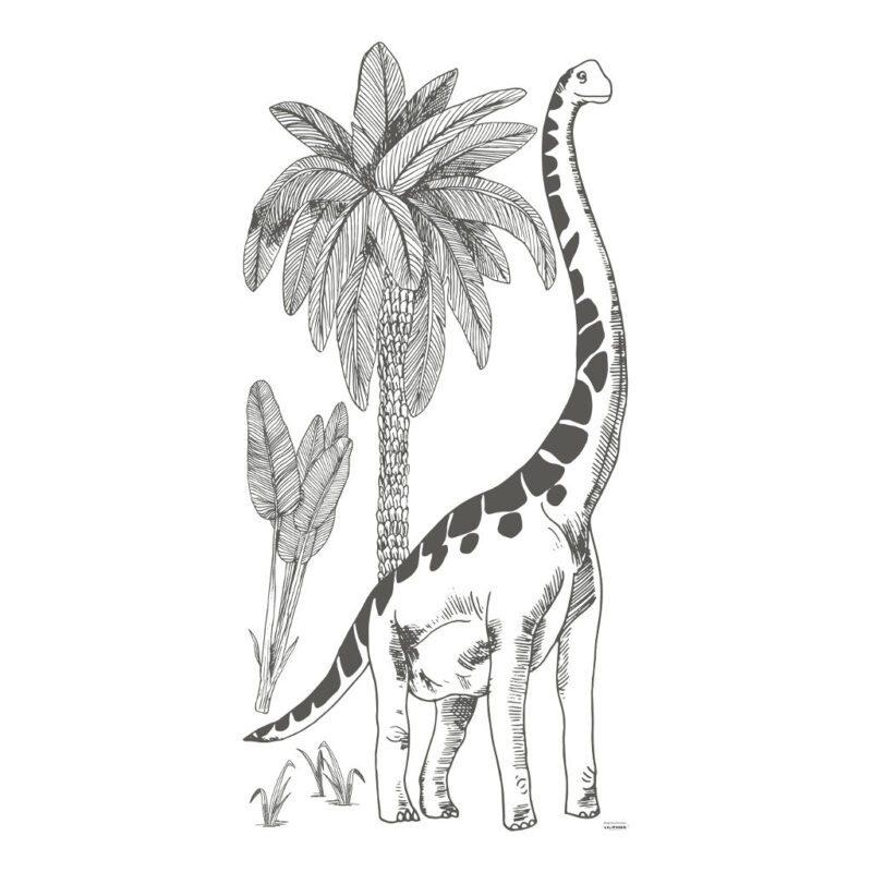 Brontosaurus Muursticker Xxl Dinosaurus Lilipinso Muur Decoratie Grote Dino Kinderkamer Babykamer QIDDIE.com lili-S1359