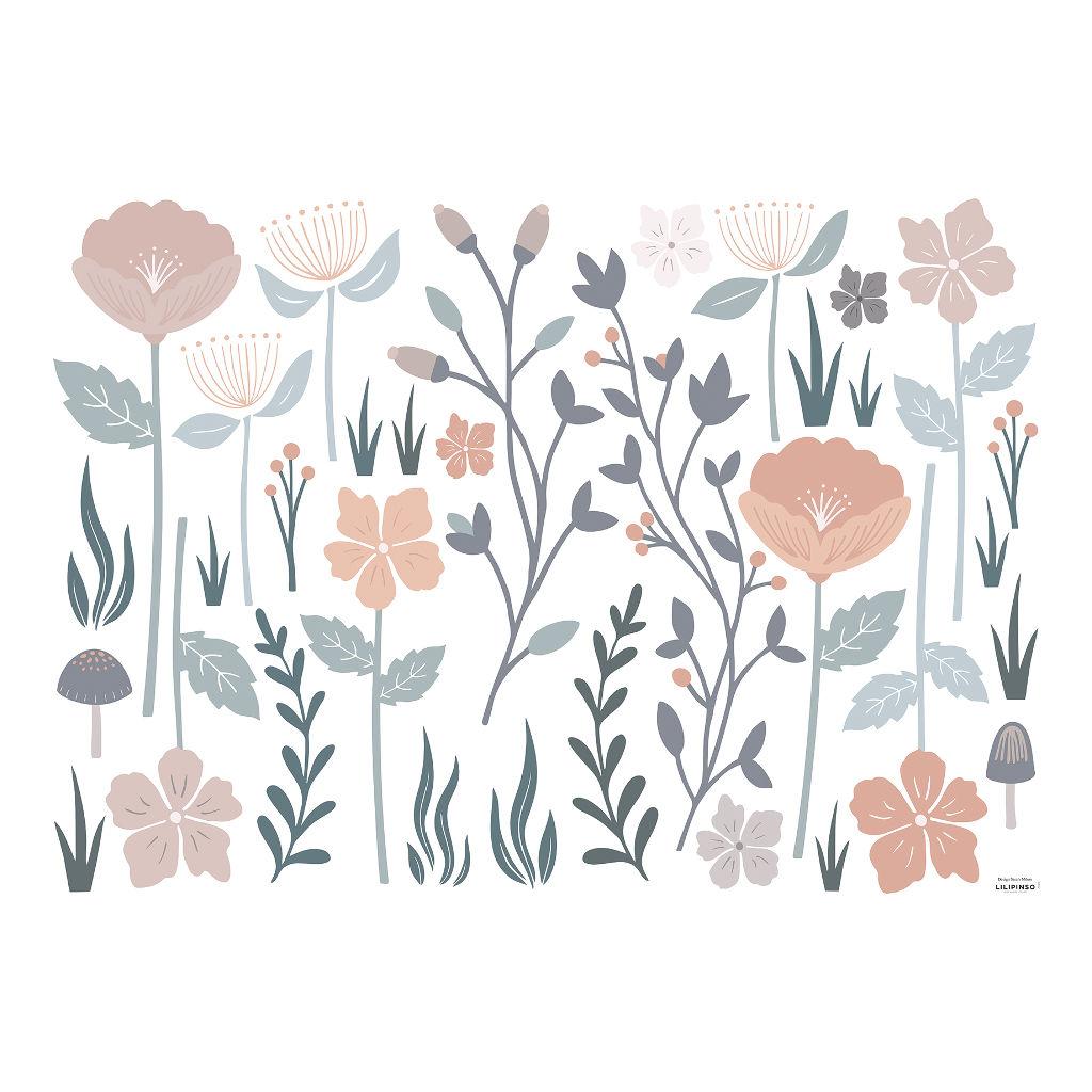 Grote Bloemen Muursticker Xl Bloom Lilipinso Adele QIDDIE.com lili-S1370