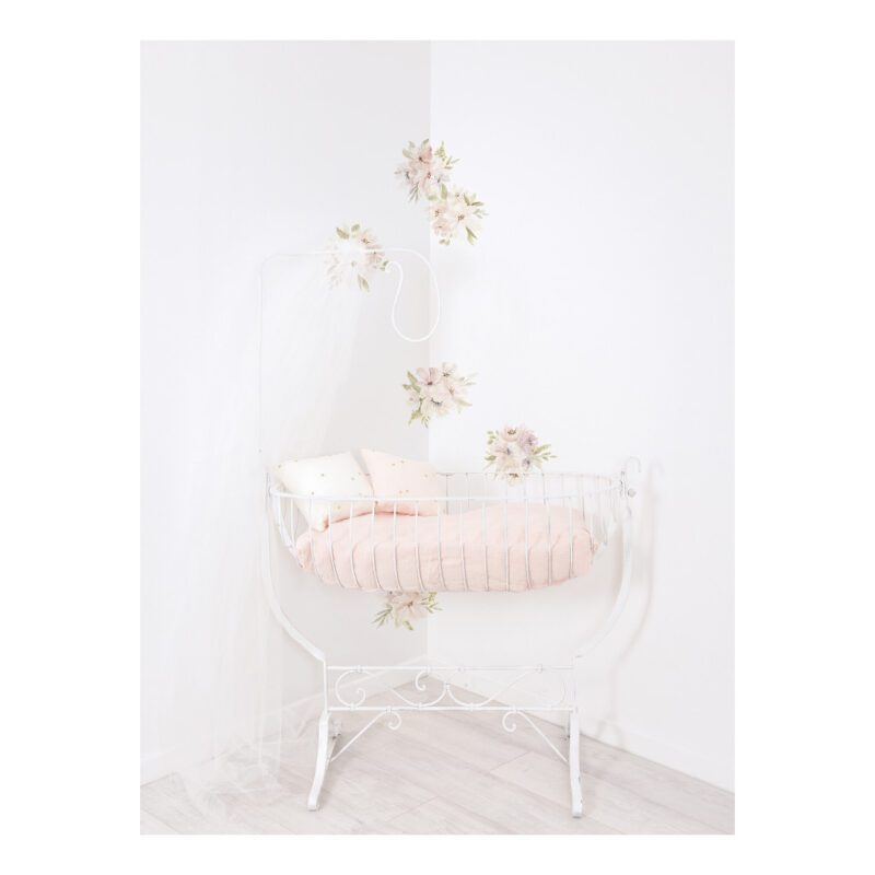 Grote Bloemen Waterverf Muursticker L Appoline Lilipinso Baby Kinder Speel Kamer QIDDIE.com lili-S1379