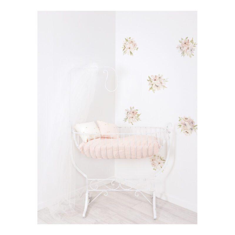 Grote Bloemen Waterverf Muursticker L Appoline Lilipinso Losse Bloemen Krans QIDDIE.com lili-S1379