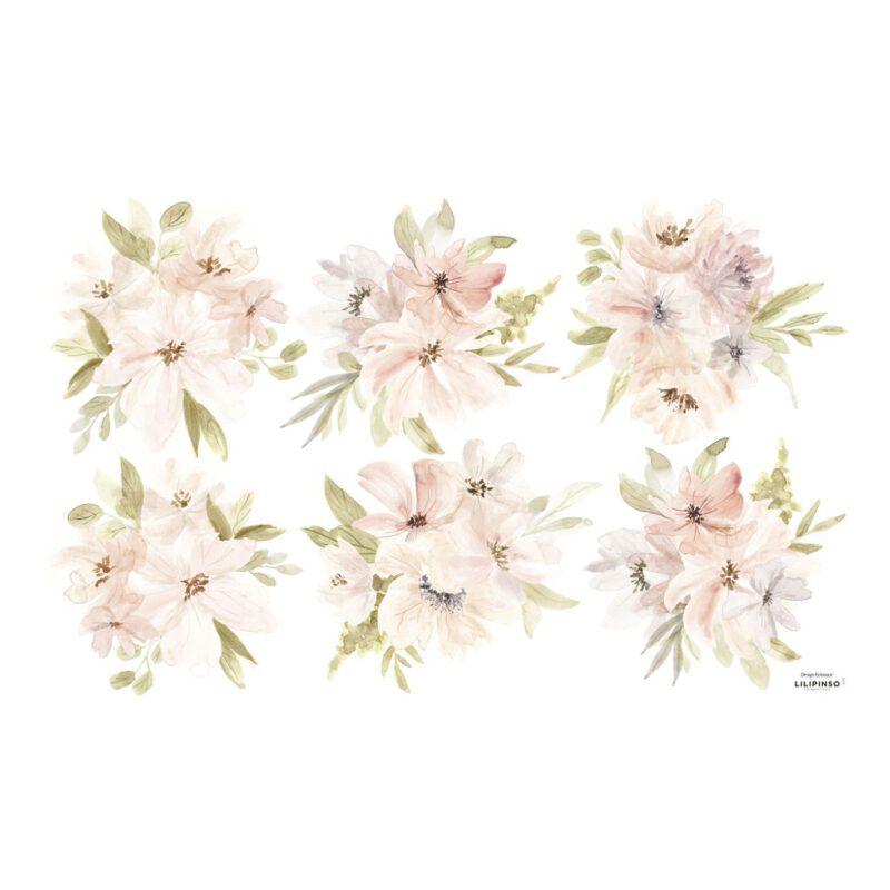 Grote Bloemen Waterverf Muursticker L Appoline Lilipinso QIDDIE.com lili-S1379