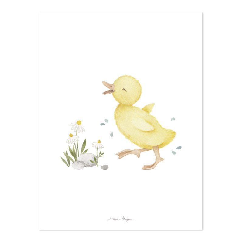 Kuikentje Poster Lucky Ducky Lilipinso Eendje Lief Schattig Baby Kuiken Kinderkamer Babykamer QIDDIE.com lili-P0303