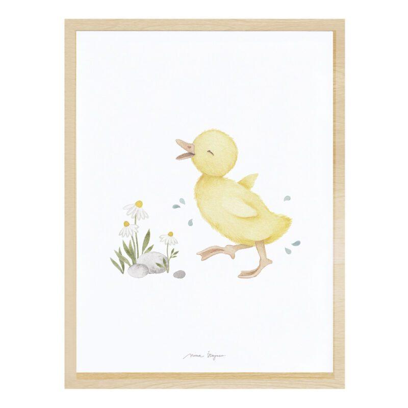 Kuikentje Poster Lucky Ducky Lilipinso Muur Decoratie Schilderij Lijst Vrolijk Eendje QIDDIE.com lili-P0303C