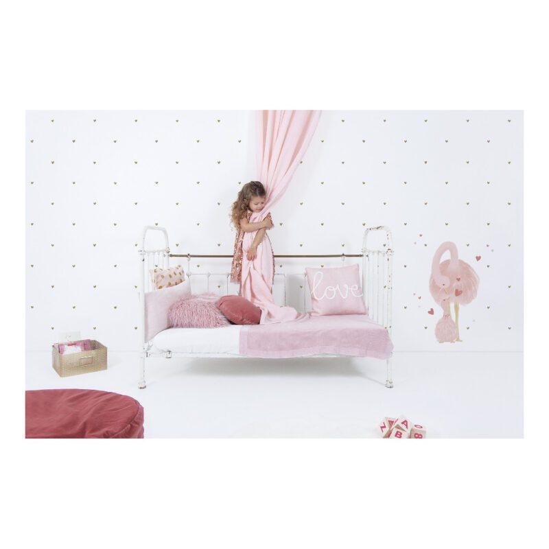 Struisvogel Met Jong Muursticker L Coquette Lilipinso Pastel Prinses Meisje Droom Roze Pink Lady Moeder Kind QIDDIE.com lili-S1405