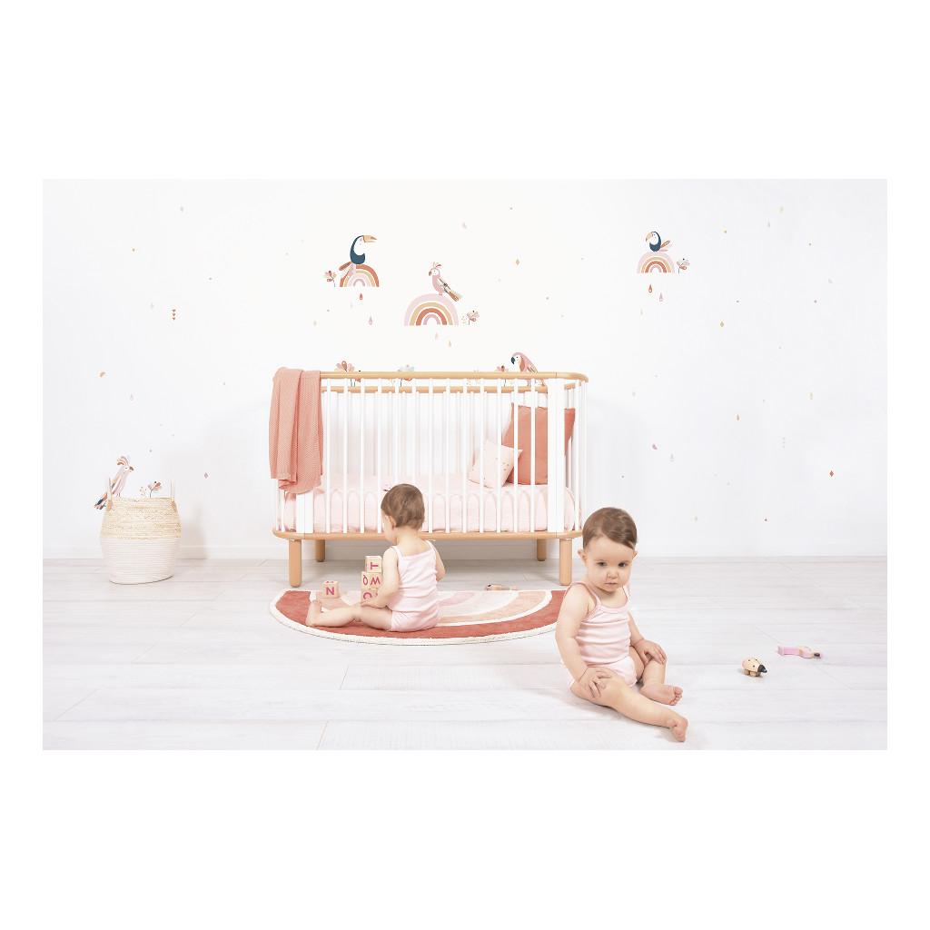 Tropische Vogels Roze & Oranje Muursticker L Paradisio Lilipinso Muur Decoratie Kinder Baby Speel Kamer QIDDIE.com lili-S1362