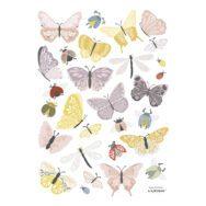 Vlinders Muursticker A3 Countryside Lilipinso Muur Decoratie Kinderkamer Woonkamer Wachtruimte Babykamer Vliegen Pastel QIDDIE.com Lili-S1418