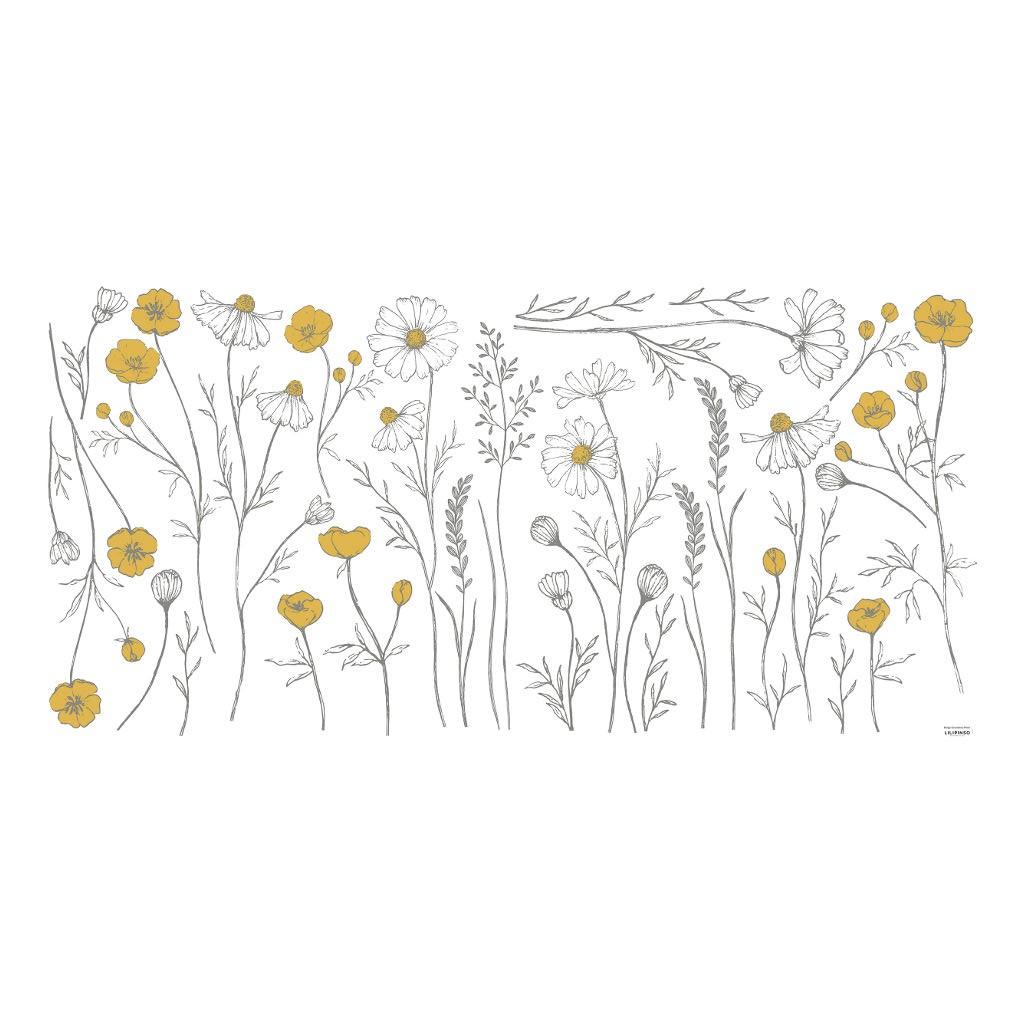 Weide Bloemen Muursticker Xl Chamomile Lilipinso Mega Bloemen Muur Decoratie Lente Spring Heide QIDDIE.com lili-S1375