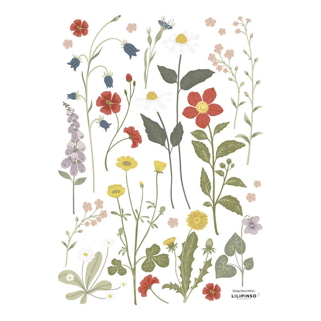 Wilde Bloemen 1 Muursticker A3 Countryside Lilipinso Wild Flowers Lente Bloesem Takken Spring QIDDIE.com lili-S1416