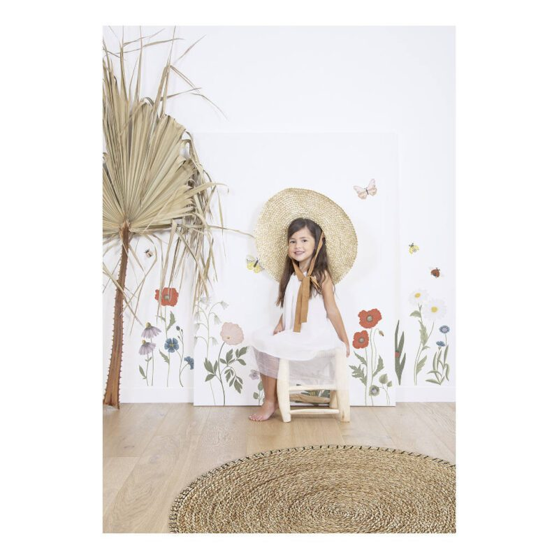 Wilde Bloemen Muursticker Xl Countryside Lilipinso Wachtruimte Kinderkamer Bloementjes Diertjes Pastel Kleurrijk Vrolijk Natuurlijk Lente Voorjaar QIDDIE.com lili-S1419