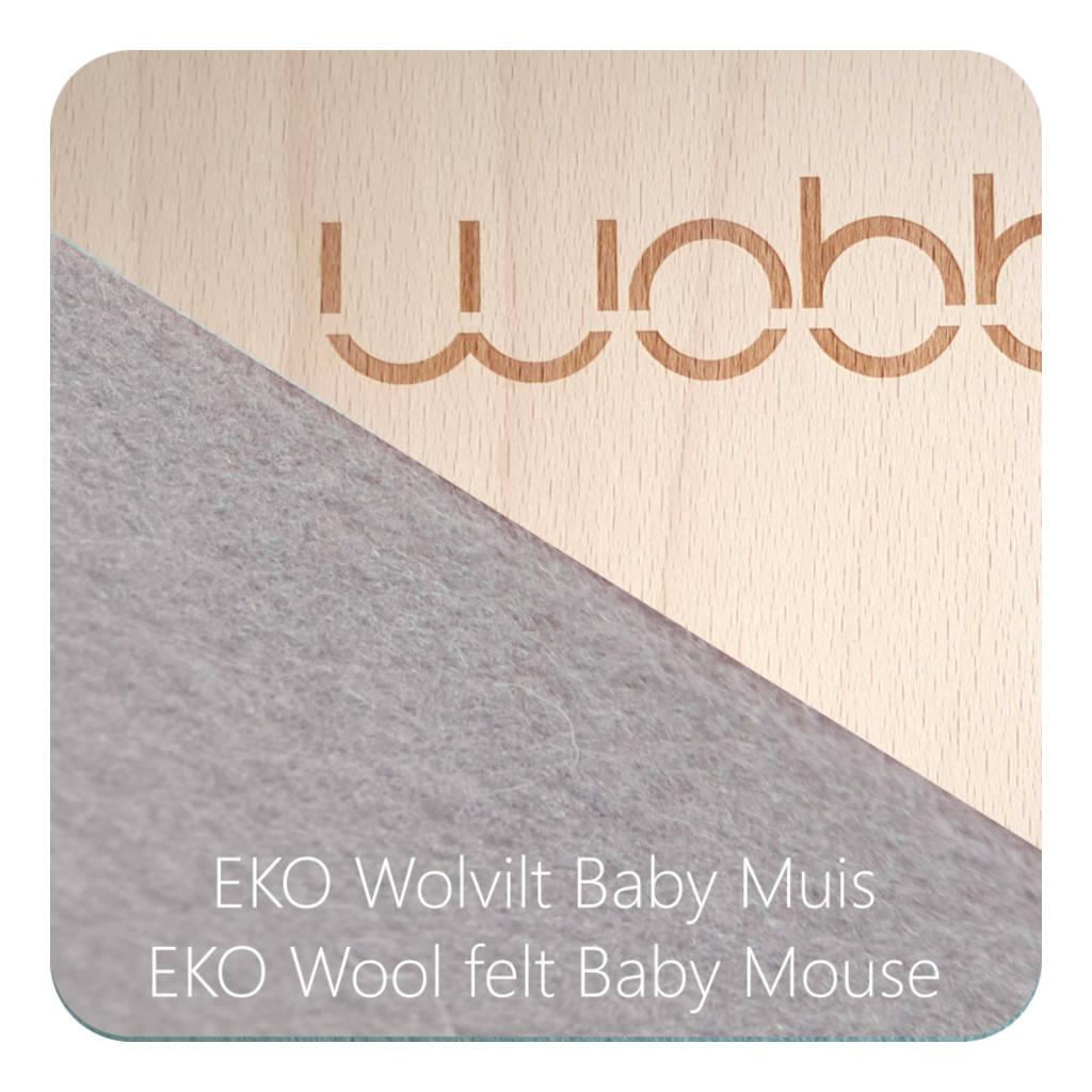 Wobbel Original Blank Gelakt Vilt Baby Muis Schommel Wip Zitten Liggen Spelen QIDDIE.com wobb-blnknw-38