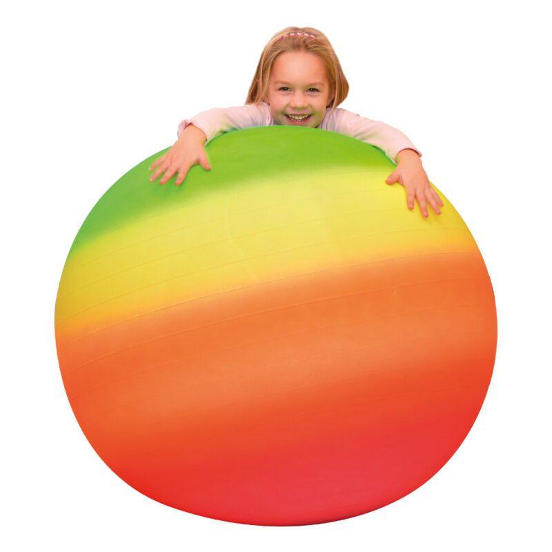 Regenboog Lichtgewicht Bal 100 Cm Gymnastiek Oefen Rol Stuiter Speel Bal Rubber QIDDIE.com edup-170328