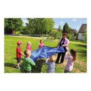 Swing Parachute Blauw 185 Cm Schommeldoek Bal Hoog Houden Vliegerkleed Kind Volwassen School Kinderopvang QIDDIE.com edup-170220