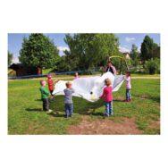 Swing Parachute Wit 185 Cm Vliegerdoek Wapper Spelen Samen Spel Rond Doek Buiten Binnen Gymzaal Hal Kind QIDDIE.com edup-170221