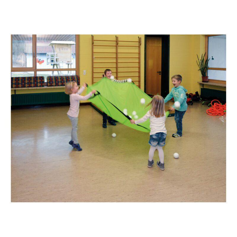 Swing Parachute groen 185 Cm Samen Spel Wapperen Bewegen Kind School Kinderopvang Peuterspeelzaal QIDDIE.com edup-170360