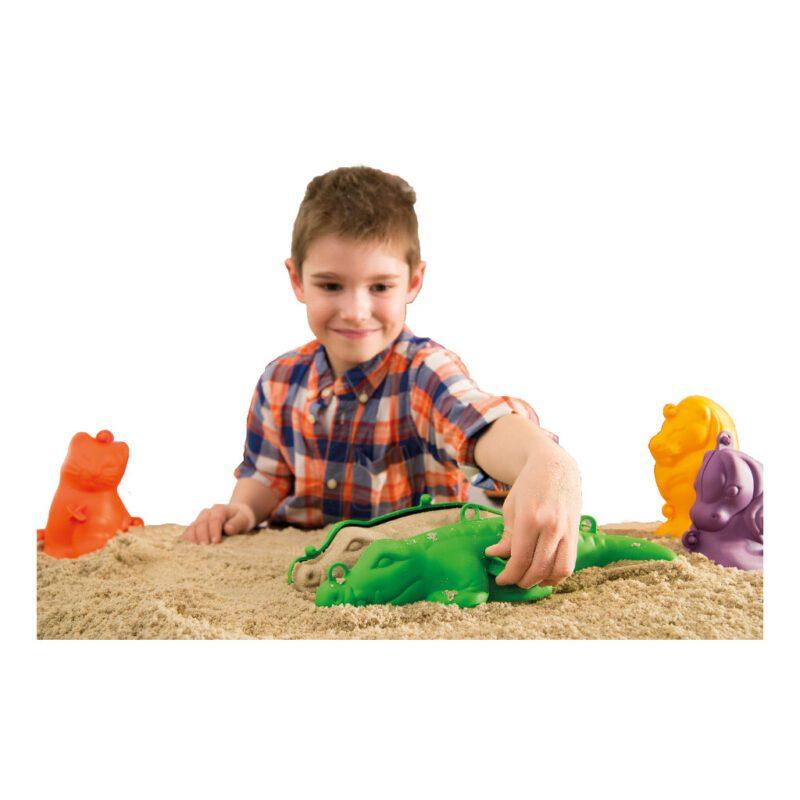 Zandvormen 3D Groot 4 Stuks Binnen Buiten Speelgoed Vullen Losmaken Eindresultaat Echt Dier QIDDIE.com edup-160183