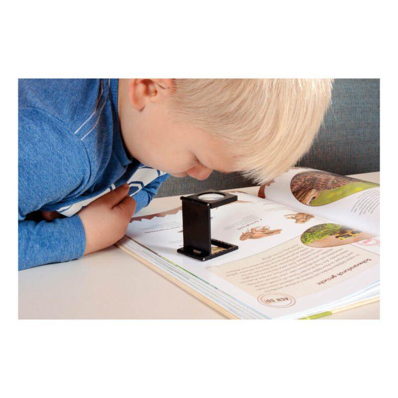 Mini Statiefloep Kijken Zoeken Meenemen Zak Broek Loep Kind Peuter Kleuter Bos Tuin Strand Boek QIDDIE.com edup-150112
