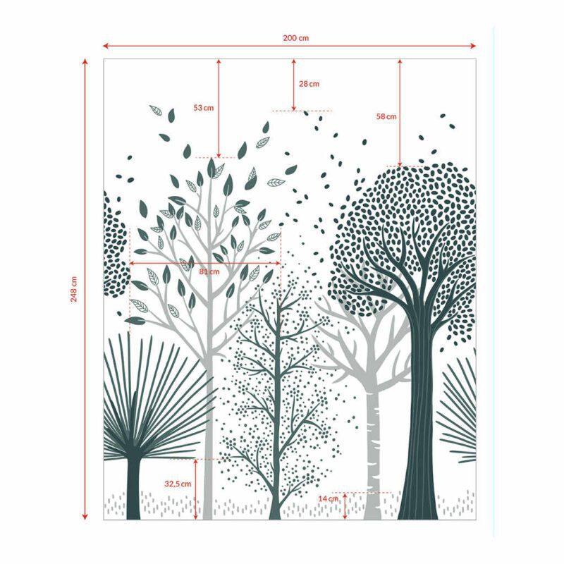 Behang Bomen M Fox Lilipinso Neutraal Trees Hoge Kleine Bomen Bos Natuur Herkenbaar Jongen Meisje QIDDIE.com lili-H0643